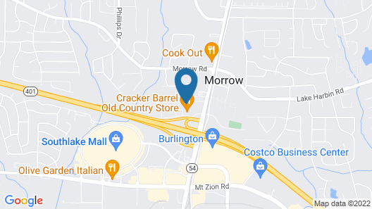 Comfort Suites Morrow- Atlanta South Map