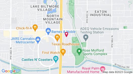 Homewood Suites by Hilton Phoenix - Metro Center Map