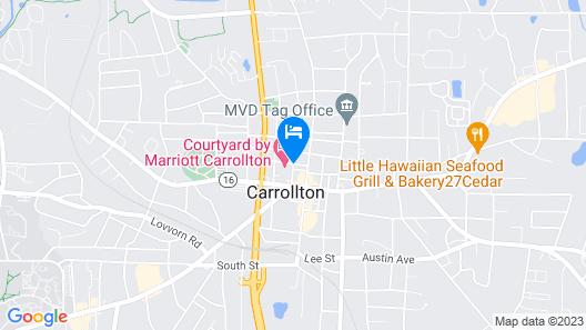 Courtyard Carrollton Map