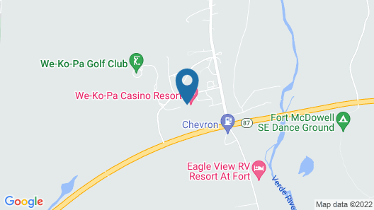 Wekopa Casino Resort Map