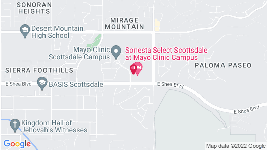 Sonesta Select Scottsdale at Mayo Clinic Campus Map