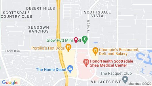 Sonesta Simply Suites Scottsdale North Map