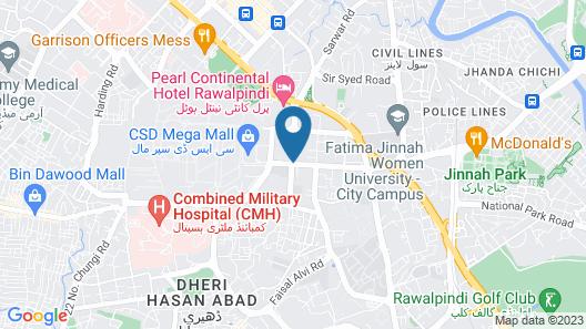 Hotel Shalimar Map