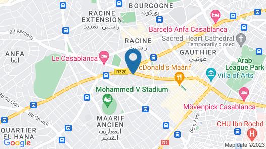 ONOMO Hotel Casablanca City Center Map