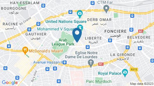 Hotel Point du Jour Map