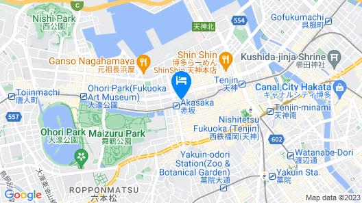 Hotel JAL City Fukuoka Tenjin Map