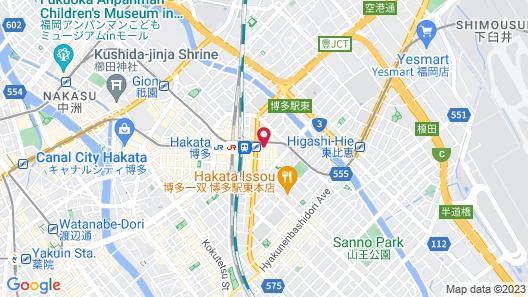 Miyako Hotel Hakata Map
