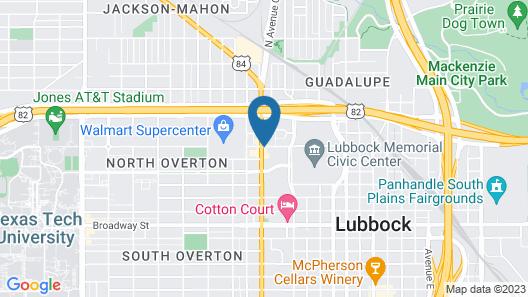 La Quinta Inn by Wyndham Lubbock - Downtown Civic Center Map