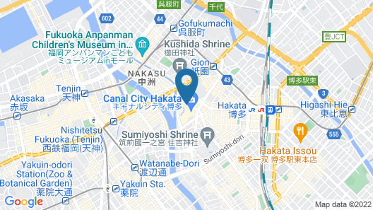 Canal City Fukuoka Washington Hotel Map