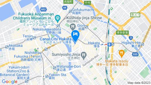 Canal City Fukuoka Washington Hotel Map