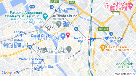 Mitsui Garden Hotel Fukuoka Gion Map