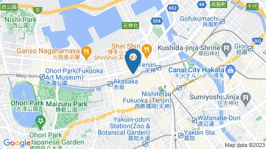 The OneFive Fukuoka Tenjin Map