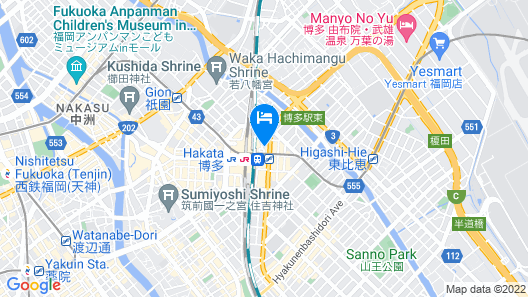 Oriental Hotel Fukuoka Hakata Station Map