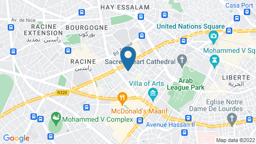 Apartment With one Bedroom in Casablanca, With Wifi Map