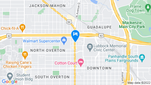 DoubleTree by Hilton Lubbock - University Area Map