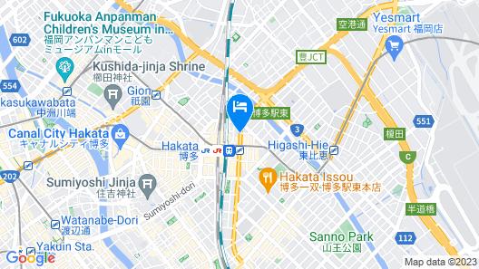 HOTEL FORZA HAKATAEKI CHIKUSHI-GUCHI Ⅰ Map