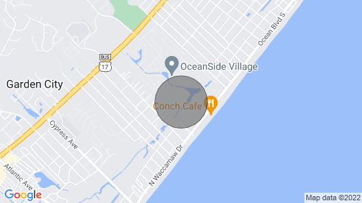Beach House in Oceanside Village, Surfside Beach Map