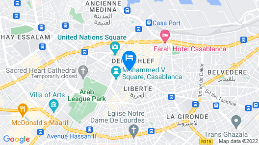 Hotel Prince de Paris Map