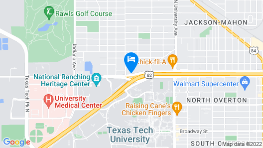 Hampton Inn & Suites Lubbock University, TX Map