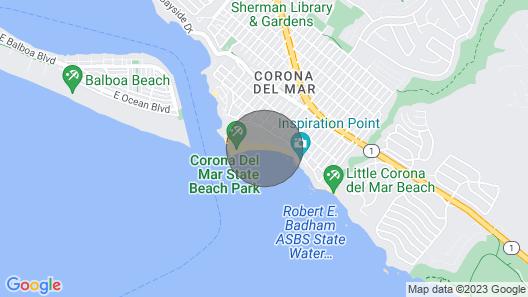 Beachfront - on the Beach in Corona Del Mar Map