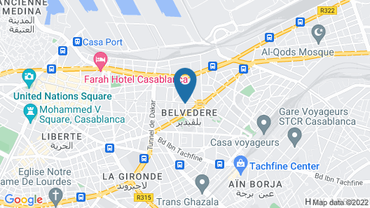 Hotel Campanile Casablanca Centre Ville Map