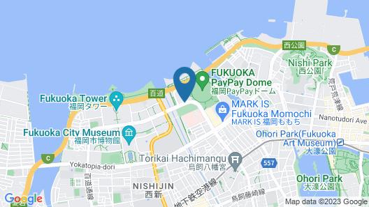 Hilton Fukuoka Sea Hawk Map