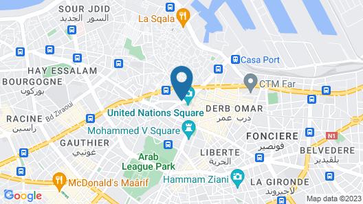 Hyatt Regency Casablanca Map