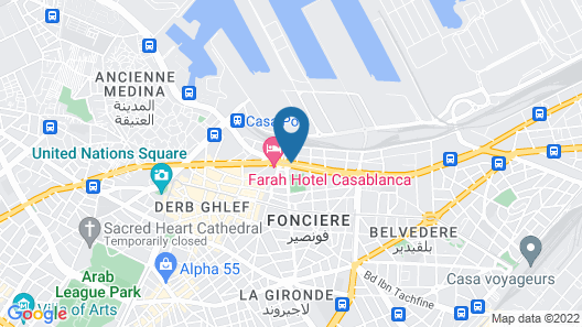 Grand Mogador CITY CENTER - Casablanca Map