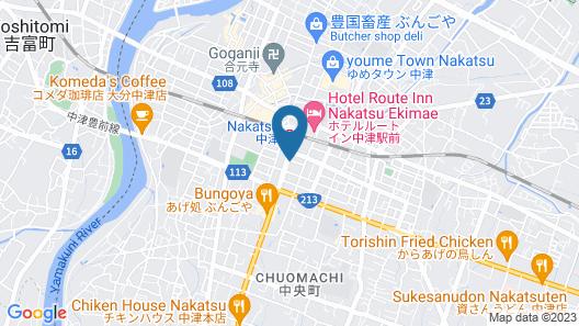 Super Hotel Oita Nakatsu-ekimae Map