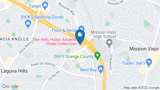 The Hills Hotel, Ascend Hotel Collection Map