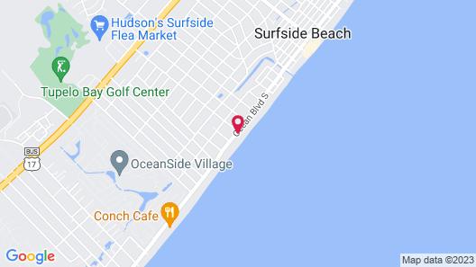 Sandpebble Beach Club Surfside Beach a Ramada by Wyndham Map