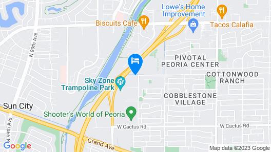 WoodSpring Suites Phoenix Peoria Map