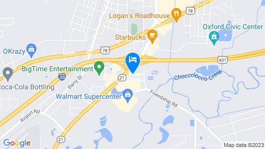 Motel 6 Anniston, AL Map
