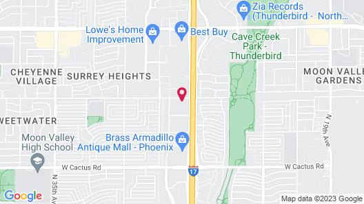 Rodeway Inn Phoenix North I-17 Map