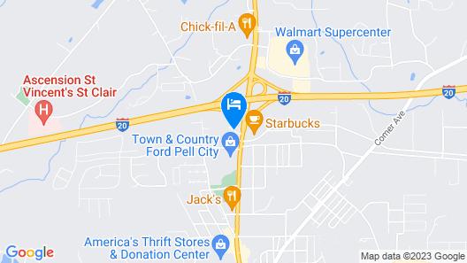 Quality Inn Pell City I-20 exit 158 Map