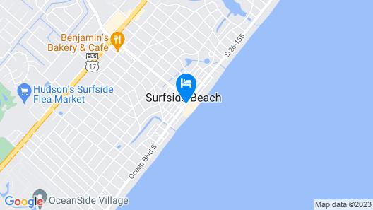 Surfside Beach Oceanfront Hotel Map