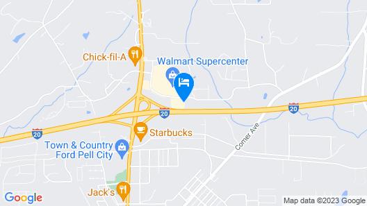 Comfort Suites Pell City I-20 exit 158 Map