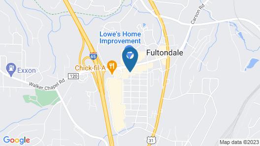 Comfort Suites Fultondale I-65 near I-22 Map