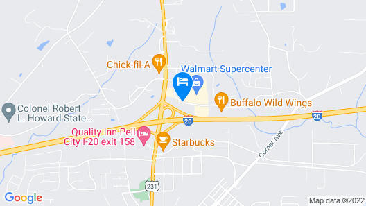 Hampton Inn Pell City Map
