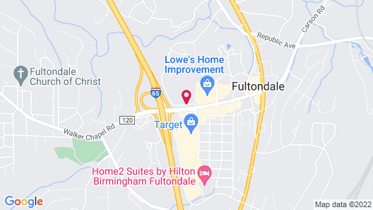 Hampton Inn Fultondale AL Map