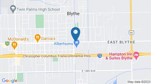 Motel 6 Blythe, CA - South Map