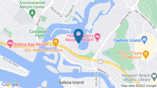Newport Dunes Waterfront Resort Map