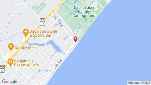 Holiday Inn Oceanfront at Surfside Beach, an IHG Hotel Map