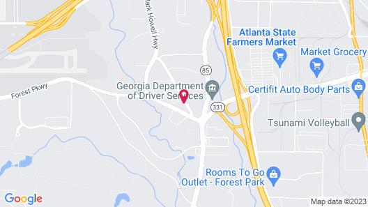 Comfort Suites Atlanta Airport Map