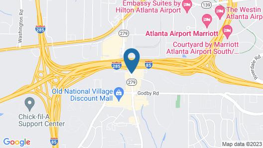 Ramada Plaza by Wyndham Atlanta Airport Map