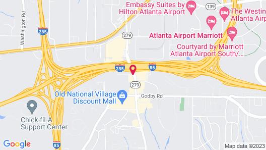 Super 8 by Wyndham Atlanta/Hartsfield Jackson Airport Map