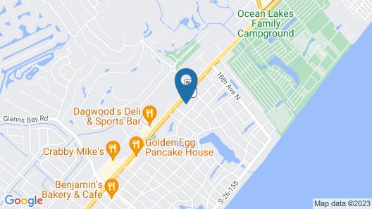 Quality Inn Surfside Myrtle Beach Map