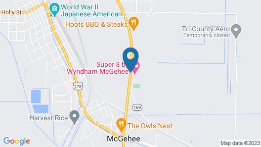 Super 8 by Wyndham McGehee Map