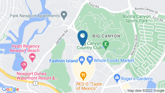 Fashion Island Hotel Newport Beach Map
