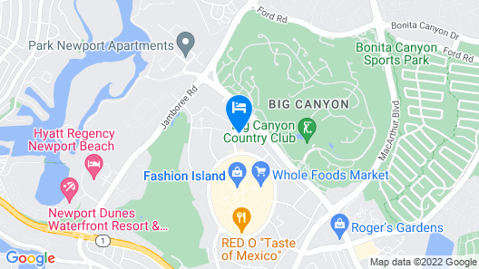 Fashion Island Hotel Newport Beach Map